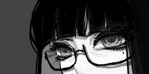 anime-art-black-and-white-glasses-favim.com-495771